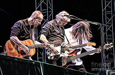 Steve Miller Band Collection Art Print by Marvin Blaine