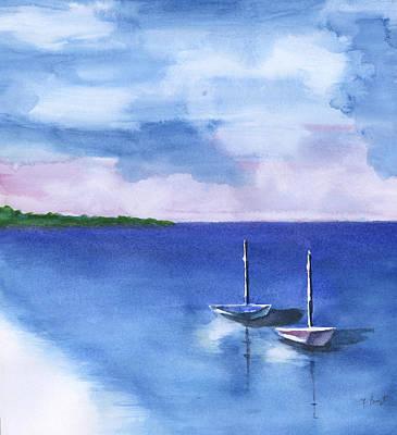 2 Still Boats Art Print