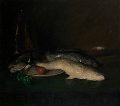 Painting - Still Life - Fish by William Merritt Chase