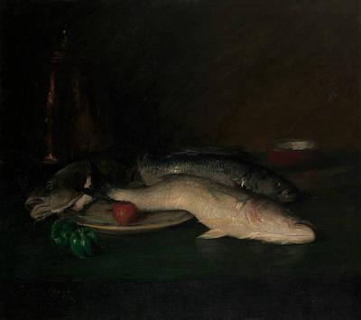 Painting - Still Life - Fish by William Merritt Chase