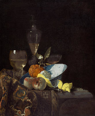 Table Cloth Painting - Still Life by Willem Kalf