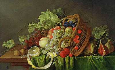 Painting - Still Life With A Basket Of Fruit by Cornelis de Heem