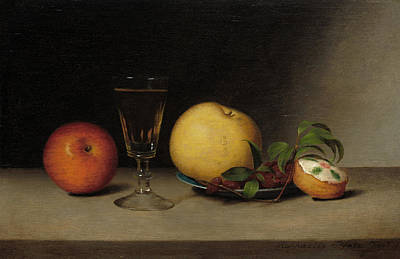 Painting - Still Life With Apples, Sherry, And Tea Cake by Raphaelle Peale