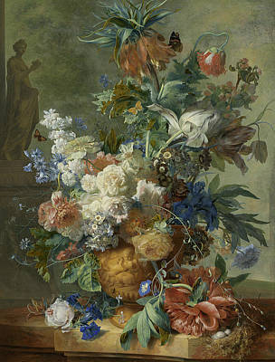 Painting - Still Life With Flowers by Jan van Huysum