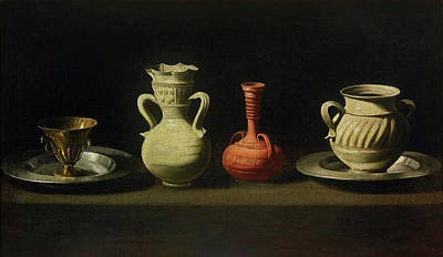 Painting - Still Life With Four Vessels by Francisco de Zurbaran