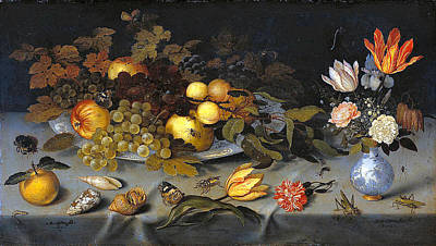 Painting - Still Life With Fruit And Flowers by Balthasar van der Ast