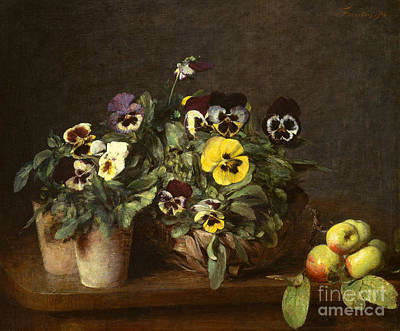 Still Life With Pansies Art Print