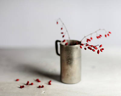 Selective Focus Photograph - Still Life With Red Berries by Nailia Schwarz