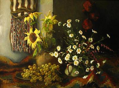 Still-life With Sunflowers Art Print by Tigran Ghulyan