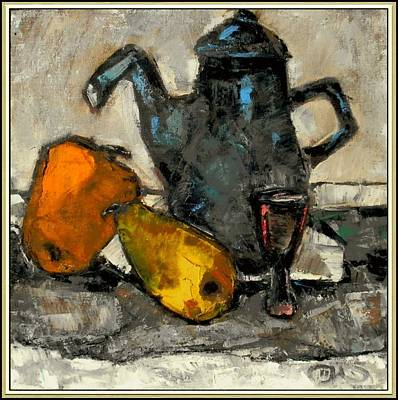 Painting - Still Life With Teapot by Pemaro