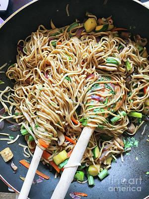 Stir Fry Noodles Art Print