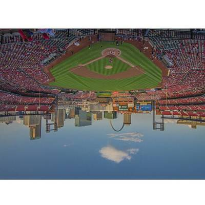 Baseball Wall Art - Photograph - #stlouiscardinals #stlouis by David Haskett II