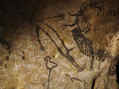 Stone-age Cave Paintings, Lascaux, France Art Print by Javier Truebamsf