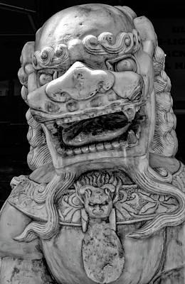 Stone Lion Chinatown Nyc Art Print