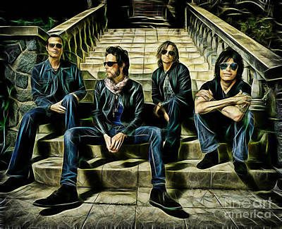 Stone Temple Pilots Wall Art - Mixed Media - Stone Temple Pilots Collection by Marvin Blaine
