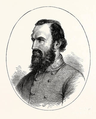 Jackson Drawing - Stonewall Jackson, by American School