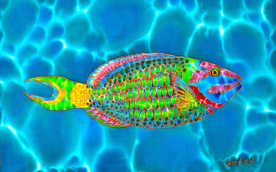Painting - Stoplight Parrotfish by Daniel Jean-Baptiste