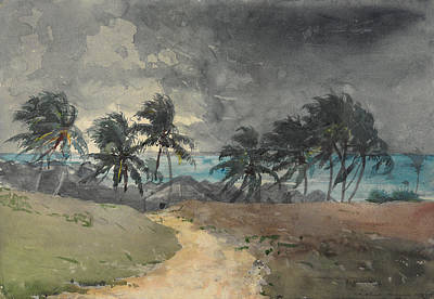 Painting - Storm, Bahamas by Winslow Homer