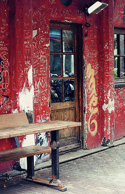 Photograph - Street Cafe In Amsterdam  by Jenny Rainbow