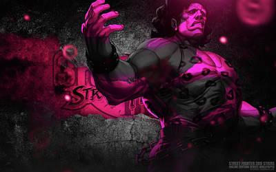 Fractal Digital Art - Street Fighter by Super Lovely