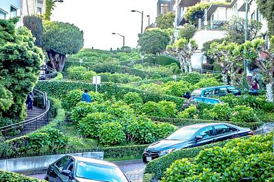 Street Views And Scenes Around San Francisco California Art Print