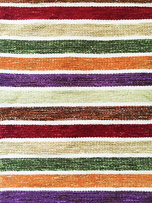 Striped Textile Art Print