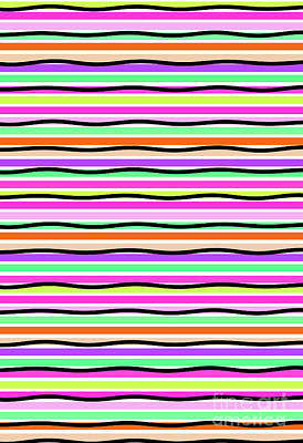 Repeat Digital Art - Stripes by Louisa Knight