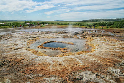 Photograph -  Strokkur Geyser In Iceland  by Patricia Hofmeester