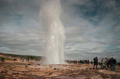 Strokkur Iceland Art Print by Mirra Photography