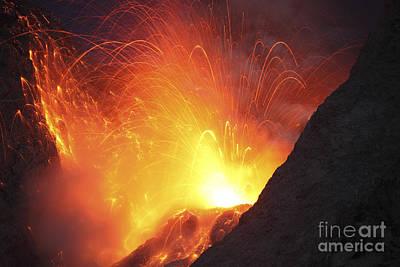 Land Feature Photograph - Strombolian Type Eruption Of Batu Tara by Richard Roscoe