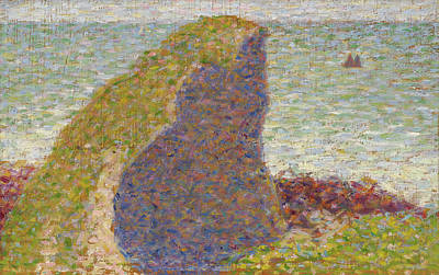 Georges Seurat Painting - Study For Le Bec Du Hoc. Grandcamp by Georges Seurat