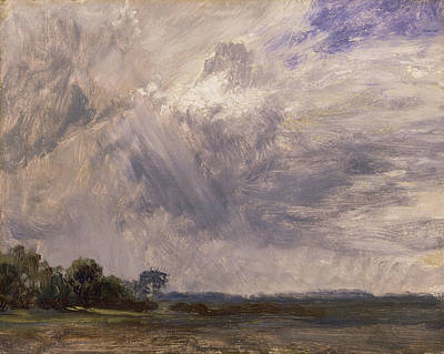 Country Painting - Study Of A Cloudy Sky by John Constable