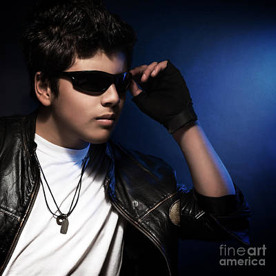 Photograph - Stylish Teen Boy by Anna Om