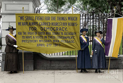 Art Print featuring the photograph Suffragettes, 1917 by Granger