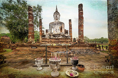 Candle Stick Photograph - Sukhothai Buddha by Adrian Evans