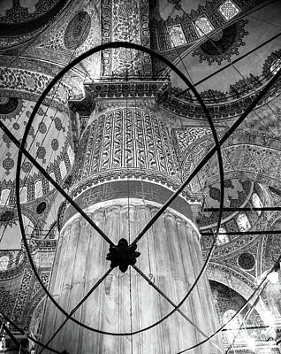 Photograph - Sultan Ahmed Mosque Interior Blue Mosque by Rene Triay Photography