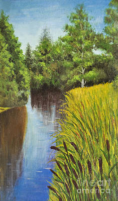Summer Landscape, Painting Art Print