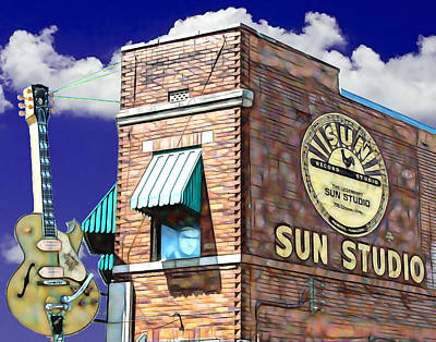 Presley Mixed Media - Sun Studio Collection by Marvin Blaine