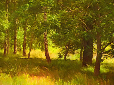 Painting - Sunlight Forest by Lutz Baar