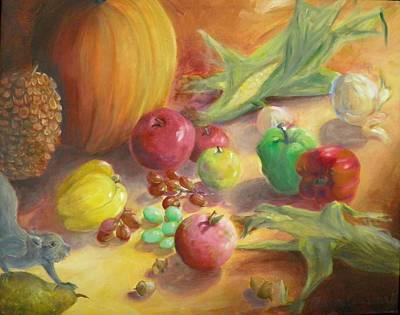 Painting - Sunlit Harvest by Sharon Casavant