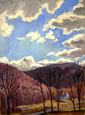 Brushy Painting - Sunny Autumn Berkshires by Thor Wickstrom
