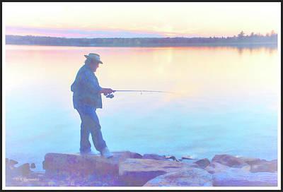 Sunrise Fisherman Art Print