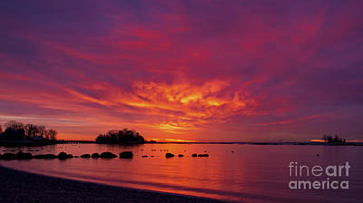 Photograph - Sunrise On Long Island Sound by New England Photography