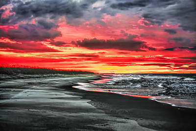 Photograph - Sunrise On The Beach by Terry Shoemaker