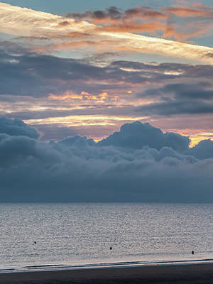 Nirvana - Sunrise with low clouds on Omaha Beach Normandy France by Stefan Rotter