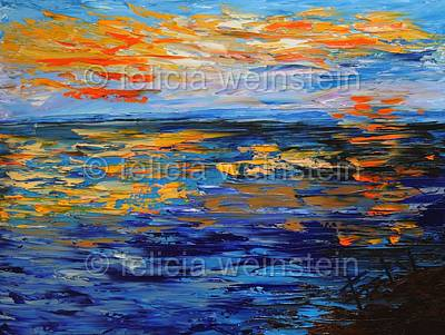 Painting - Sunset 4 by Felicia Weinstein