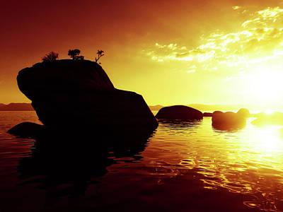 Bonsai Rock Photograph - Sunset At Bonsai Rock by Peter Irwindale