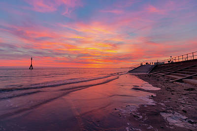 Photograph - Sunset At Crosby Beach by Paul Madden