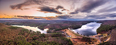 Art Print featuring the photograph Sunset At Saville Dam - Barkhamsted Reservoir Connecticut by Petr Hejl