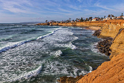 California Ocean Photograph - Sunset Cliffs 2 by Peter Tellone